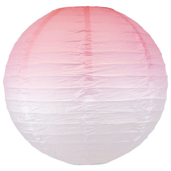 Pixie Pink Ombre 12inch Paper Lantern