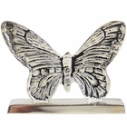 Place Card Holder Butterfly Silver