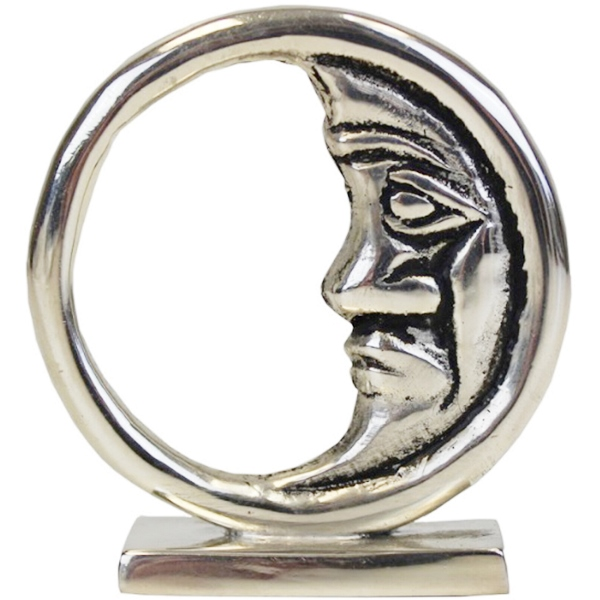 Place Card Holder Crescent Moon Silver