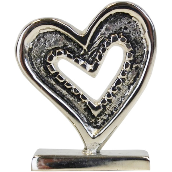 Place Card Holder Heart Silver