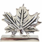 Place Card Holder Maple Leaf Silver
