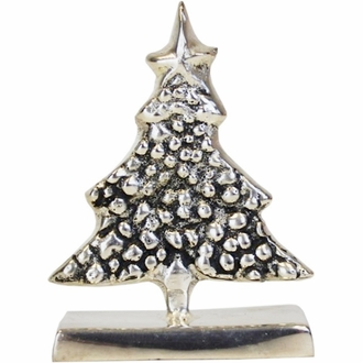Place Card Holder Snowy Tree Silver