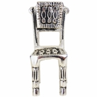 Place Card Holder Square Backed Chair Silver