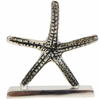 Place Card Holder Starfish Silver