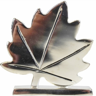 Place Card Holder Sugar Maple Leaf Silver