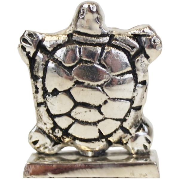 Place Card Holder Turtle Silver