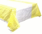 Plastic Rectangular Tablecloth/Cover - 5 Pack - (70-Inch L x 43-Inch W) - Chevron Pattern: Lemon Yellow - Premier
