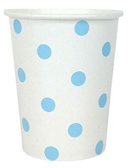 Polka Dot Party Paper Cups (24pc, Baby Blue) - Premier