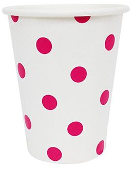 Polka Dot Party Paper Cups (24pc, Fuchsia) - Premier