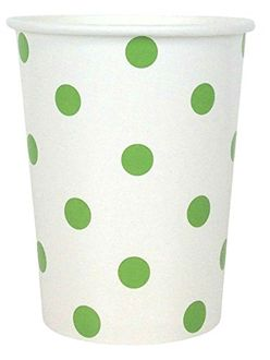 Polka Dot Party Paper Cups (24pc, Green Apple) - Premier