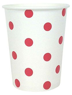 Polka Dot Party Paper Cups (24pc, Red) - Premier