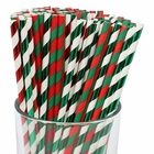 Premium Biodegradable 100pcs Christmas Decorative Paper Straws (Color: Merry Christmas) - Premier