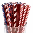 Premium Biodegradable 100pcs Christmas Decorative Paper Straws (Color: Santa Claus) - Premier
