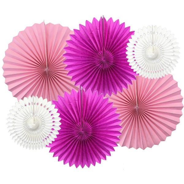 Prima Ballerina Pinwheel and Tissue Fan Decorating Kit 6pcs