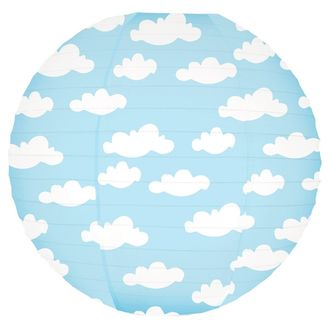 Puffy Clouds Magical Pattern 12inch Paper Lanterns