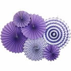 Purple and White Paper Pinwheel Decorating Kit 6pcs