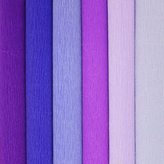 Purple Assorted Crepe Paper Roll Package 6pcs 90g