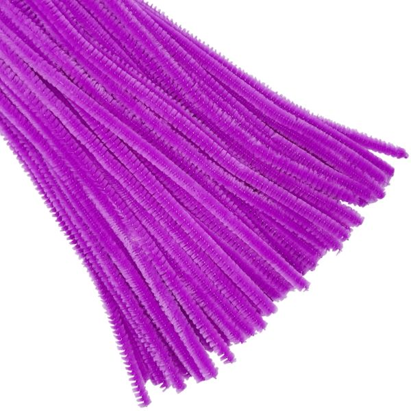 Purple Chenille Stem Pipe Cleaners 100pcs