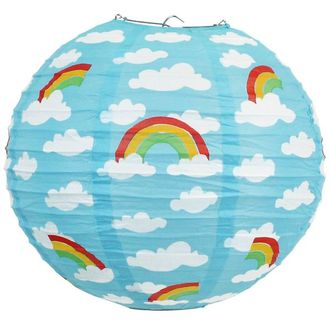 Rainbows and Puffy Clouds 12inch Paper Lantern