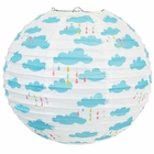 Raindrop Showers and Puffy Clouds 12inch Paper Lantern