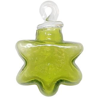 CLEARANCE Recycled Glass Mini Ornament Bottle Green Imogen