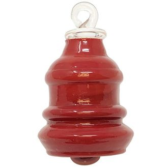 CLEARANCE Recycled Glass Mini Ornament Chipotle Red Bella