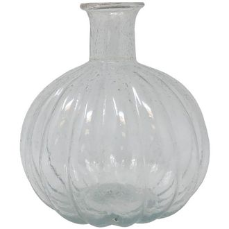 Recycled Glass Pumpkin Vase Clear Oceana