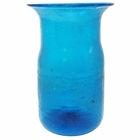 CLEARANCE Recycled Glass Tall Vase Turquoise Tital