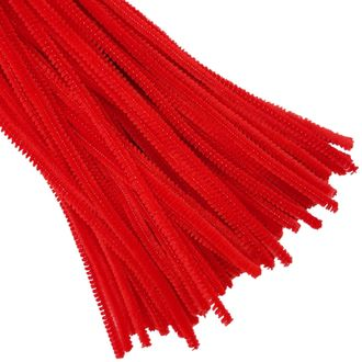 Red Chenille Stem Pipe Cleaners 100pcs