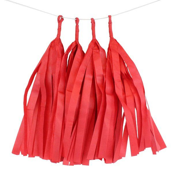 Red Tassel Garland 4pcs