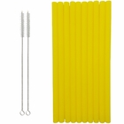 Reusable Silicone Smoothie Straws 10pcs Yellow