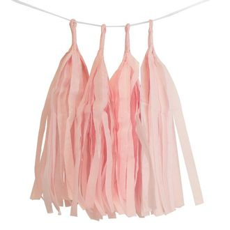 Rose Quartz Tassel Garland 4pcs