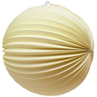 "Round Accordion 12"" Paper Lantern Lemonade Yellow"