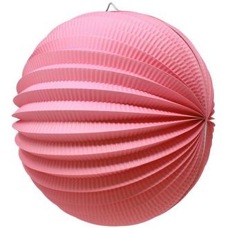 "Round Accordion 12"" Paper Lantern Pink"
