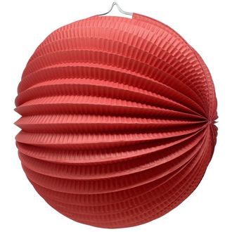 "Round Accordion 12"" Paper Lantern Red"