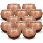 Round Mercury Glass Votive Candle Holder 2-Inch (Speckled Espresso, Set of 12) - Premier