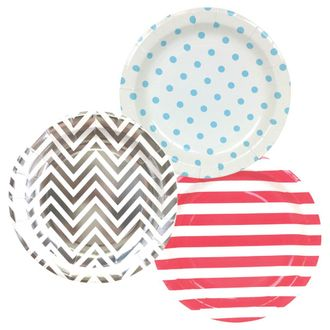 Round Paper Party Plates 9in (36pcs) – Assorted Freedom Decorative Pack - Premier