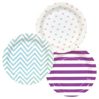 Round Paper Party Plates 9in (36pcs) – Assorted Mermaid Decorative Pack - Premier
