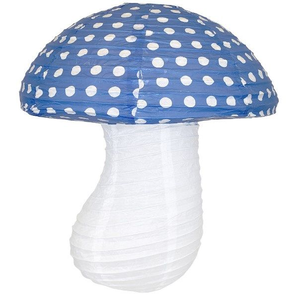 Royal Blue Mushroom Paper Lantern 16in