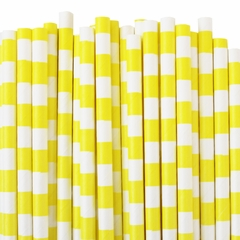 Rugby Stripe Paper Straws