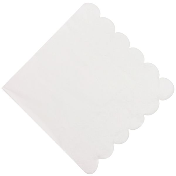 "Scallop White Paper Napkins 6.5"" 20pcs"