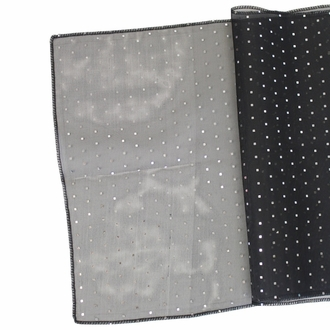 Sequin Table Runner Black