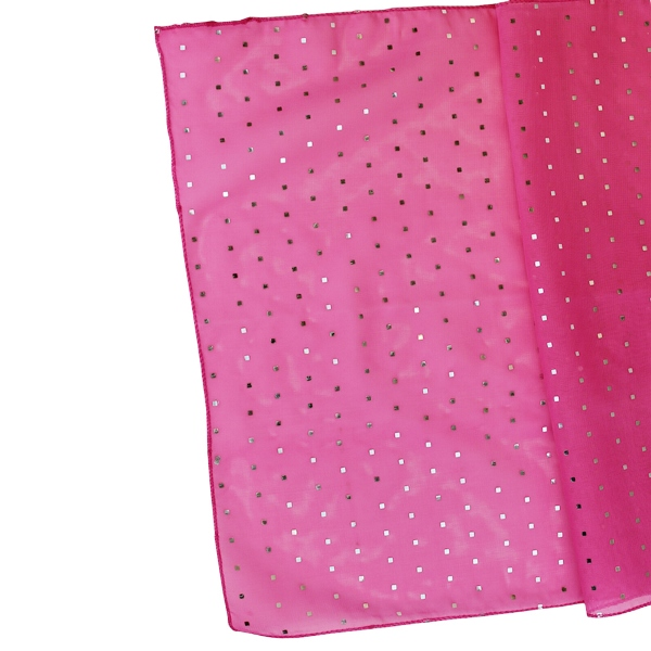 CLEARANCE Sequin Table Runner Fuchsia
