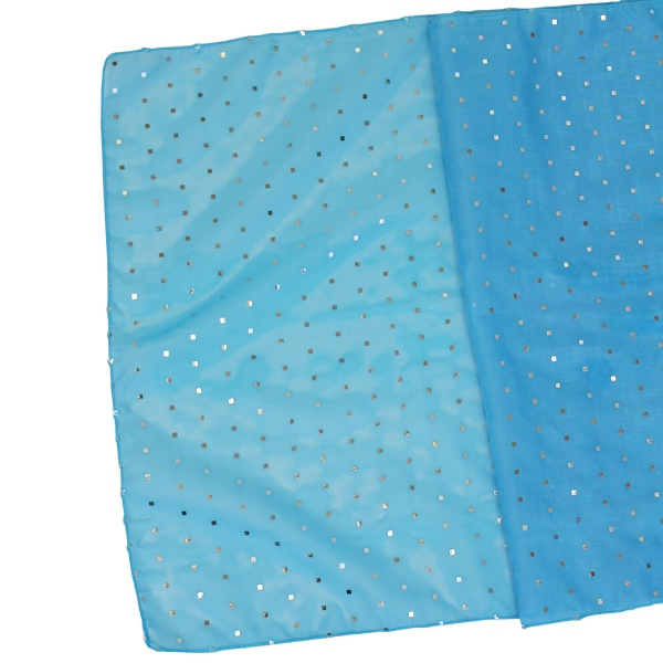 Sequin Table Runner Turquoise Blue