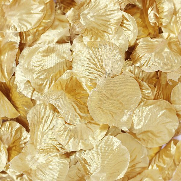 Silk Rose Flower Petals Gold 300