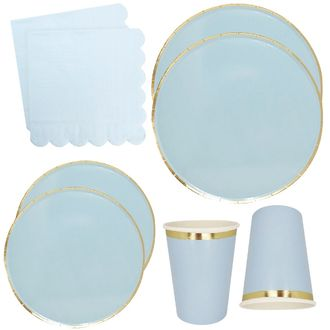 Sky Blue Tableware Kit 44pcs - Premier