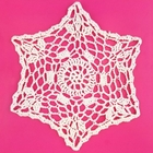 Small Cotton Lace Crocheted Doilies 4pcs Esther White