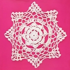 Small Cotton Lace Crocheted Doilies 4pcs Henrietta White