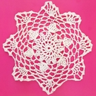 Small Cotton Lace Crocheted Doilies 4pcs Lucille White