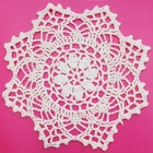 Small Cotton Lace Crocheted Doilies 4pcs Rosalie White